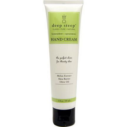 Deep Steep, Hand Cream, Honeydew - Spearmint 59ml