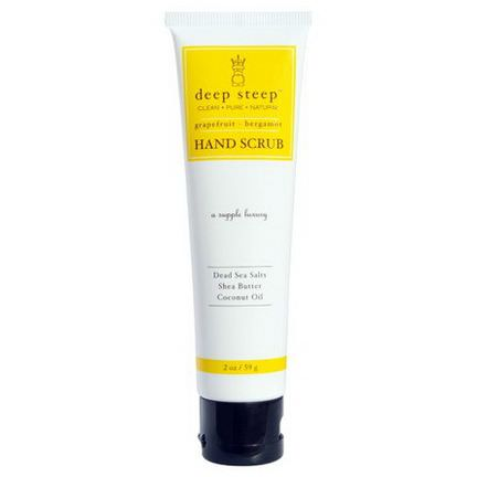 Deep Steep, Hand Scrub, Grapefruit Bergamot 59g