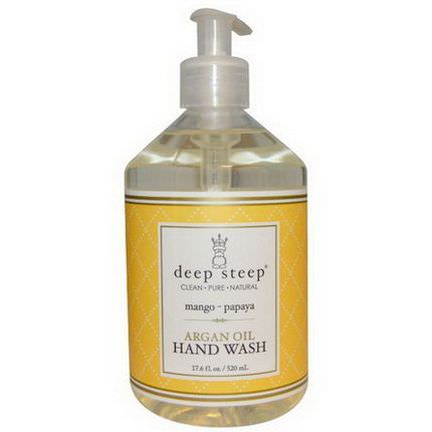 Deep Steep, Hand Wash, Argan Oil, Mango - Papaya 520ml