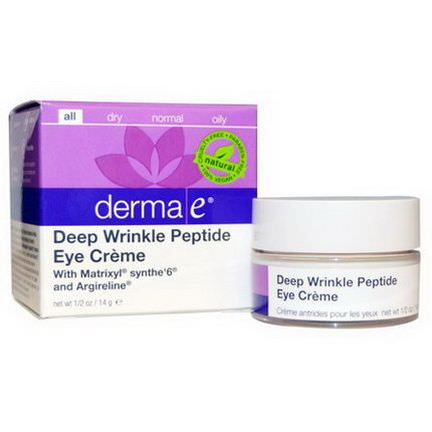 Derma E, Deep Wrinkle Peptide Eye Cream 14g