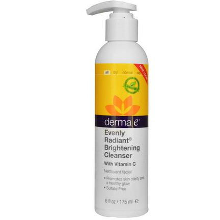 Derma E, Evenly Radiant Brightening Cleanser with Vitamin C 175ml