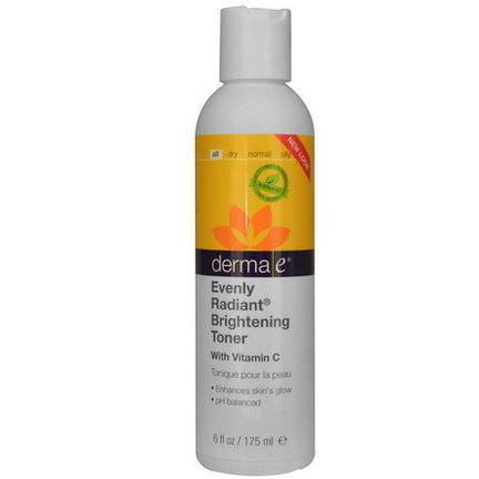 Derma E, Evenly Radiant Brightening Toner 175ml