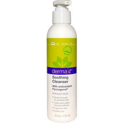 Derma E, Soothing Cleanser, with Antioxidant Pycnogenol 175ml
