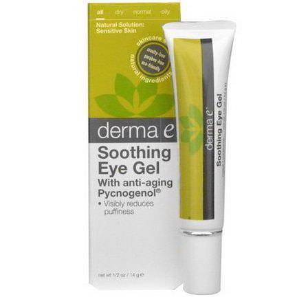 Derma E, Soothing Eye Gel, with Anti-Aging Pycnogenol 14g