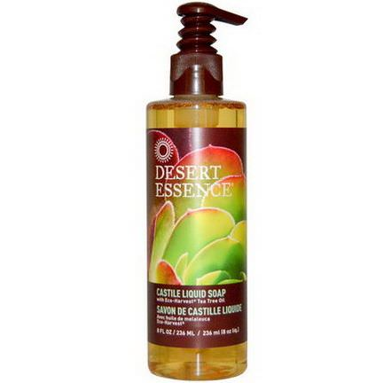 Desert Essence, Castile Liquid Soap, with Eco-Harvest Tea Tree Oil 236ml
