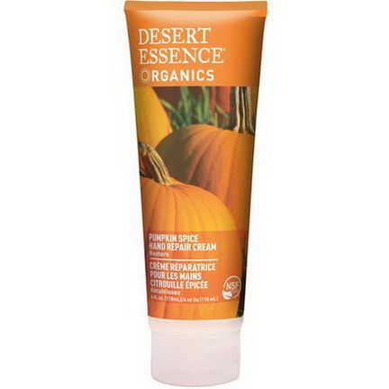 Desert Essence, Organics, Hand Repair Cream, Pumpkin Spice 118ml