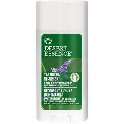 Desert Essence, Tea Tree Oil Deodorant with Lavender Oil 70ml