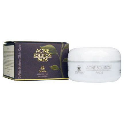 Devita, Natural Skin Care, Acne Solution Pads 60g