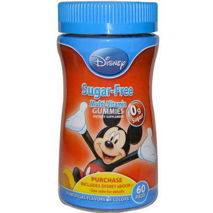 Disney, Disney Mickey, Sugar-Free Multi-Vitamin Gummies, 60 Pieces