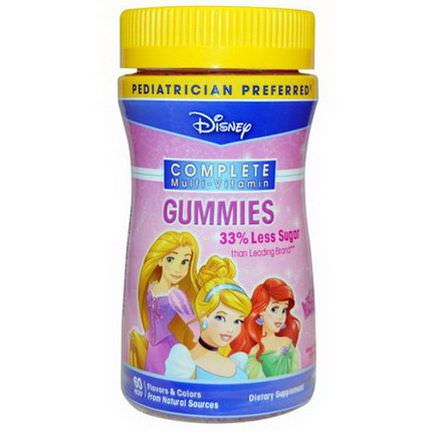 Disney, Princess, Complete Multi-Vitamin Gummies, Grape, Orange, Cherry, 60 Pieces