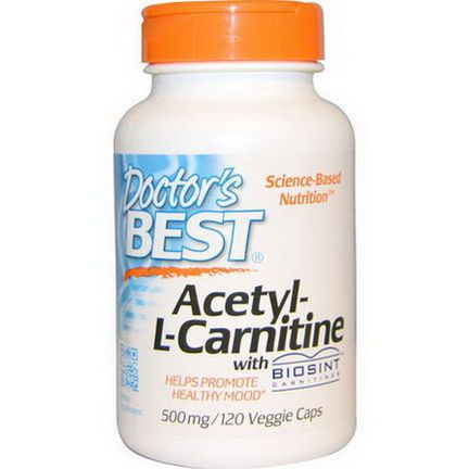 Doctor's Best, Acetyl-L-Carnitine, 500mg, 120 Veggie Caps