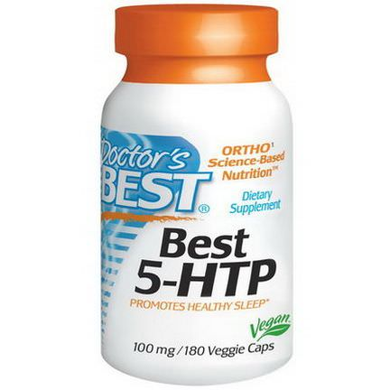 Doctor's Best, Best 5-HTP, 100mg, 180 Veggie Caps