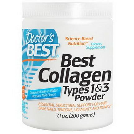 Doctor's Best, Best Collagen, Types 1&3, Powder 200g