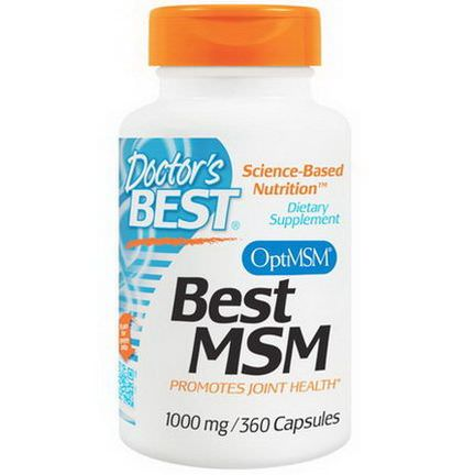 Doctor's Best, Best MSM, 1000mg, 360 Capsules