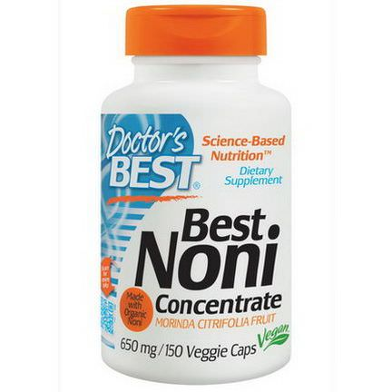 Doctor's Best, Best Noni Concentrate, 650mg, 150 Veggie Caps