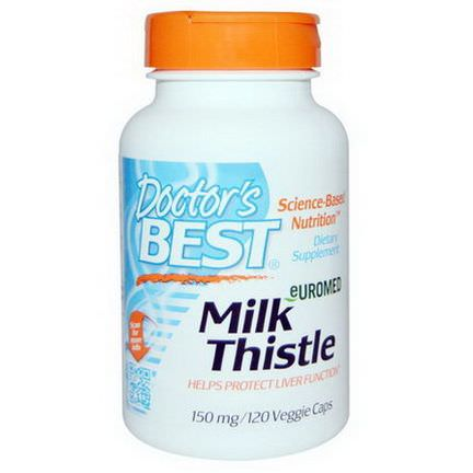 Doctor's Best, Euromed Milk Thistle, 150mg, 120 Veggie Caps