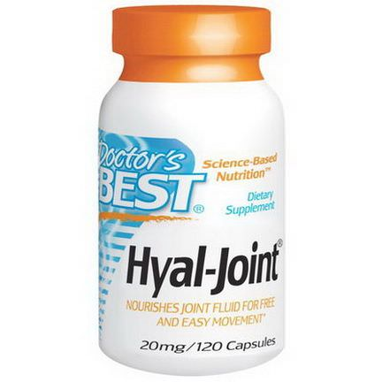 Doctor's Best, Hyal-Joint, 20mg, 120 Capsules