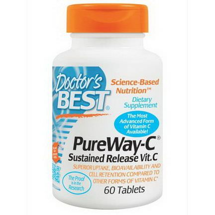 Doctor's Best, PureWay-C, Sustained Release Vit. C, 60 Tablets