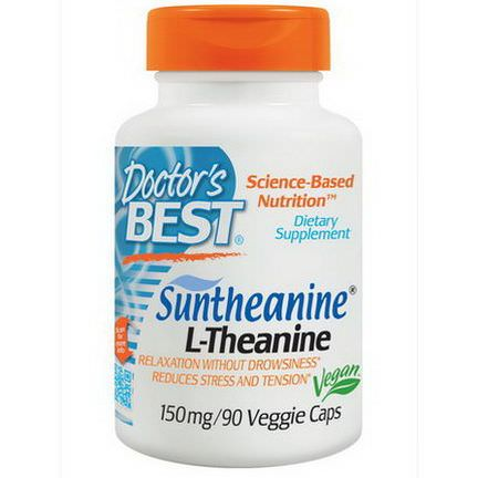 Doctor's Best, Suntheanine L-Theanine, 150mg, 90 Veggie Caps