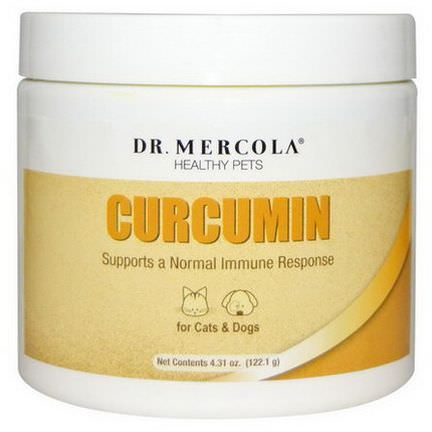 Dr. Mercola, Healthy Pets, Curcumin for Cats&Dogs 122.1g