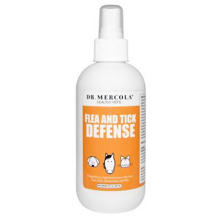 Dr. Mercola, Healthy Pets, Flea and Tick Defense, For Dogs and Cats 237ml