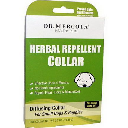 Dr. Mercola, Healthy Pets, Herbal Repellent Collar, For Small Dogs&Puppies, One Collar 19.85g