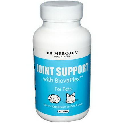 Dr. Mercola, Healthy Pets, Joint Support, with BiovaPlex, for Pets, 60 Tablets