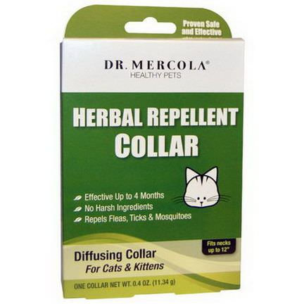 Dr. Mercola, Herbal Repellent Collar for Cats&Kittens, One Collar 11.34g