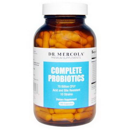 Dr. Mercola, Premium Supplements, Complete Probiotics, 180 Capsules