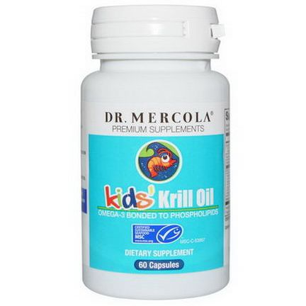 Dr. Mercola, Premium Supplements, Kids'Krill Oil, 60 Capsules
