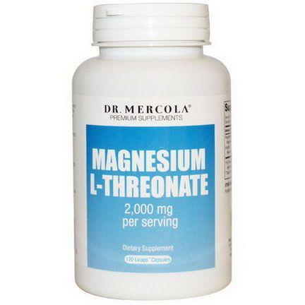Dr. Mercola, Premium Supplements, Magnesium L-Threonate, 120 Licaps Capsules