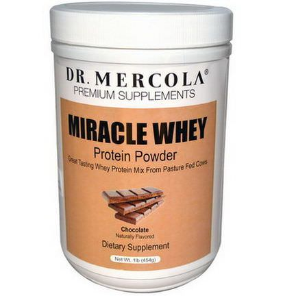 Dr. Mercola, Premium Supplements, Miracle Whey, Protein Powder, Chocolate 454g
