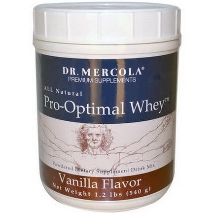 Dr. Mercola, Premium Supplements, Pro-Optimal Whey, Vanilla Flavor 540g