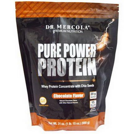 Dr. Mercola, Pure Power Protein, Chocolate Flavor 880g