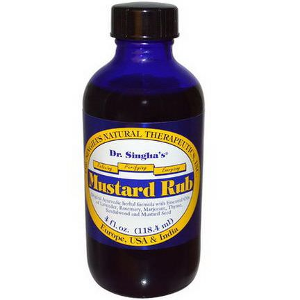 Dr. Singha's, Mustard Rub 118.4ml