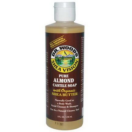Dr. Woods, Pure Almond Castile Soap, with Organic Shea Butter 236ml