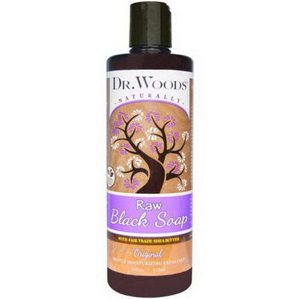 Dr. Woods, Raw Black Soap, Original 473ml