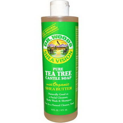 Dr. Woods, Shea Vision, Pure Tea Tree Castile Soap with Organic Shea Butter 473ml