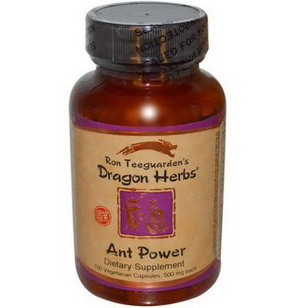 Dragon Herbs, Ant Power, 500mg, 100 Veggie Caps