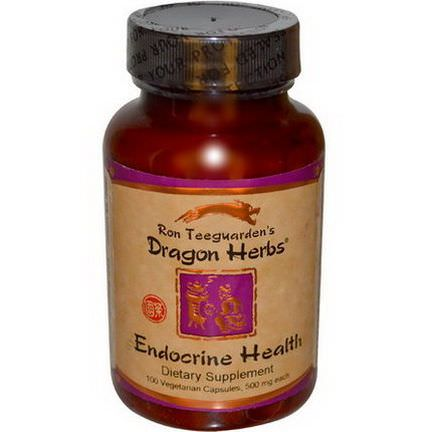 Dragon Herbs, Endocrine Health, 500mg, 100 Veggie Caps