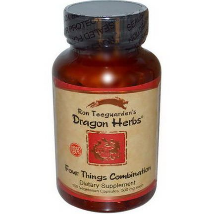 Dragon Herbs, Four Things Combination, 500mg, 100 Veggie Caps