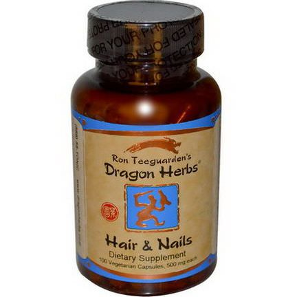 Dragon Herbs, Hair&Nails, 500mg, 100 Veggie Caps