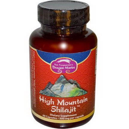 Dragon Herbs, High Mountain Shilajit, 500mg, 60 Capsules