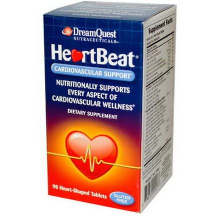 Dream Quest Nutraceuticals, HeartBeat, Cardiovascular Support, 90 Heart-Shaped Tablets