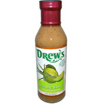 Drew's All Natural, Dressing&Quick Marinade, Thai Sesame Lime 354ml