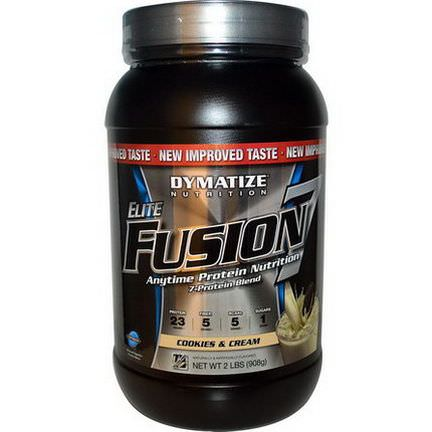 Dymatize Nutrition, Elite Fusion 7, Anytime Protection Nutrition, Cookies&Cream 908g