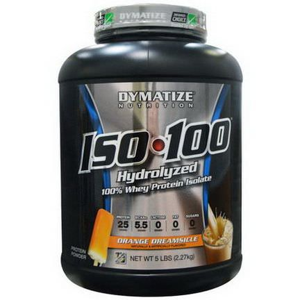 Dymatize Nutrition, ISO 100 Hydrolyzed 100% Whey Protein Isolate, Orange Dreamsicle 2.27 kg