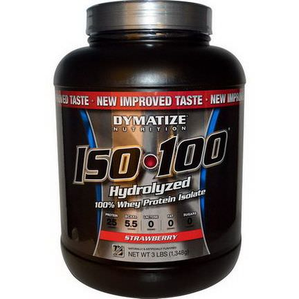 Dymatize Nutrition, ISO 100, Hydrolyzed 100% Whey Protein Isolate, Strawberry 1,348g