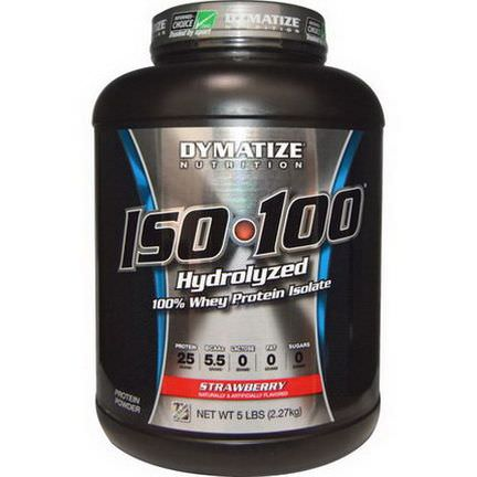 Dymatize Nutrition, ISO 100 Hydrolyzed 100% Whey Protein Isolate, Strawberry 2.27 kg