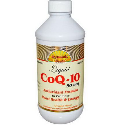 Dynamic Health Laboratories, CoQ-10, Liquid, Orange Flavor, 50mg 237ml